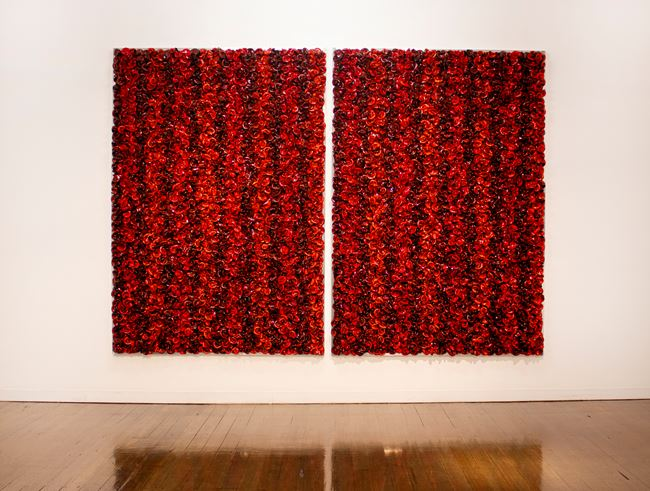 Red on Red - Take 2 by Dani Marti contemporary artwork