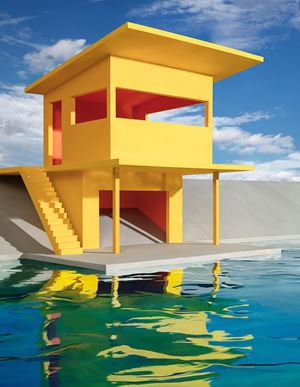Bright Yellow House by James Casebere contemporary artwork