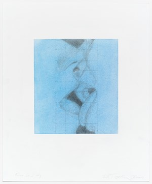 Kiss grid #7 by Betty Tompkins contemporary artwork