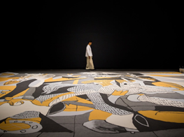 Lee Mingwei explores impermanence through 'Guernica in Sand'