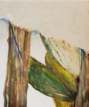 She who lost her leaves by Chafa Ghaddar contemporary artwork painting