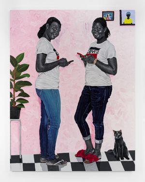 Miriam & Mabel by Otis Kwame Kye Quaicoe contemporary artwork painting