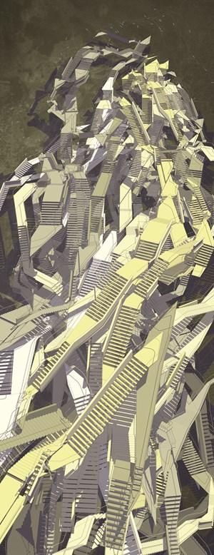 Babel's Stairs II by Mariasun Salgado contemporary artwork