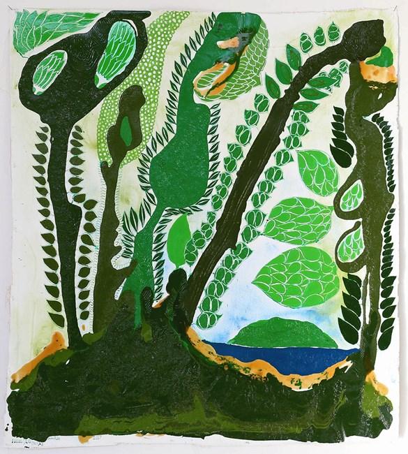 Fonua Galo (Paea) by John Pule contemporary artwork