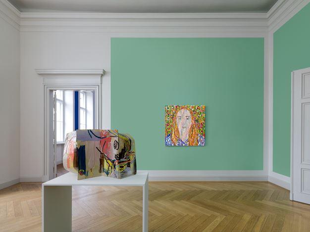 Exhibition view: Ghada Amer, The women I know, Kewenig, Berlin (21 November 2020–23 January 2021). © Ghada Amer. Courtesy the artist and Kewenig, Berlin. Photo Lepkowski Studios, Berlin.