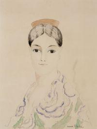 L'Espagnole à la mantille by Francis Picabia contemporary artwork painting, works on paper, drawing
