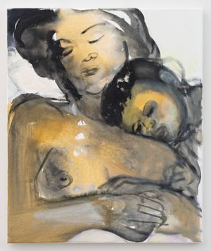 Helena and Eden by Marlene Dumas contemporary artwork