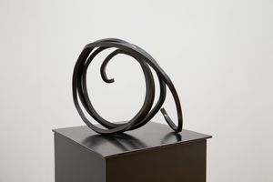 Indeterminate Line by Bernar Venet contemporary artwork sculpture