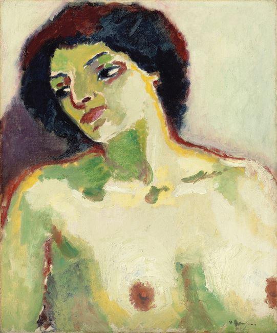 Portrait de femme en buste by Kees Van Dongen contemporary artwork