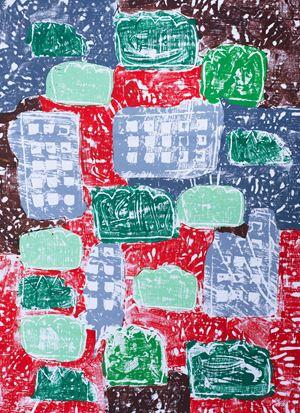 Houses by Olaf Breuning contemporary artwork