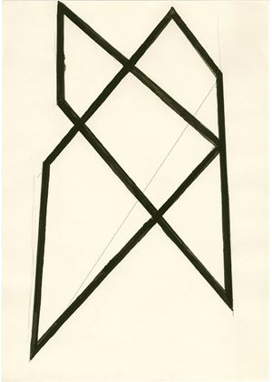 Haus Struktur by Helmut Federle contemporary artwork