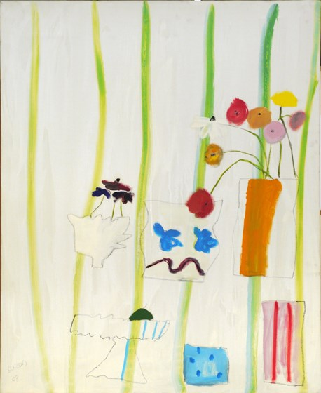 May with Stripes by Edith Schloss contemporary artwork