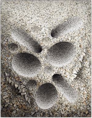 Aggregation 16 - JA303 by Chun Kwang Young contemporary artwork mixed media