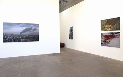 Sanjay Theodore, Motu, 2016, Exhibition view, Jonathan Smart Gallery, Christchurch. Courtesy Jonathan Smart Gallery, Christchurch.