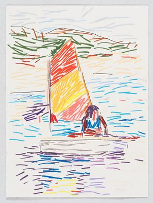 Aurore Sailing by Guy Yanai contemporary artwork