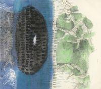 冷月浸雲 Moon Among the Clouds by Lee Chung-Chung contemporary artwork painting, works on paper, drawing