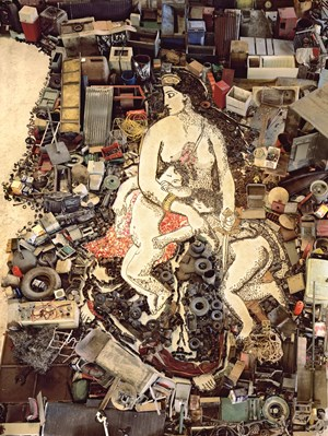 Medea about to Kill her Children, after Eugene Delacroix (Pictures of Junk) by Vik Muniz contemporary artwork