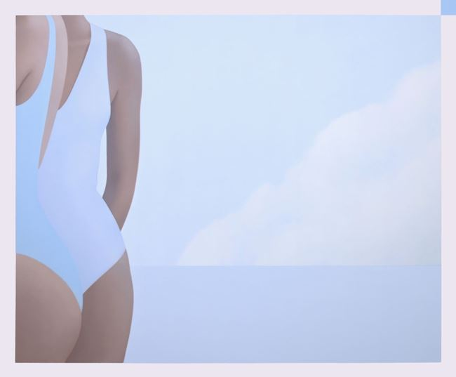 Blue Bathing Suits and Cloud by Ridley Howard contemporary artwork