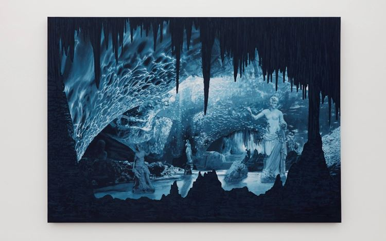 Daniel Arsham, Cave of the Sublime, Iceland (2020). Acrylic on canvas panel. 213.4 x 304.8 x 7.6 cm. Courtesy the artist and Perrotin.