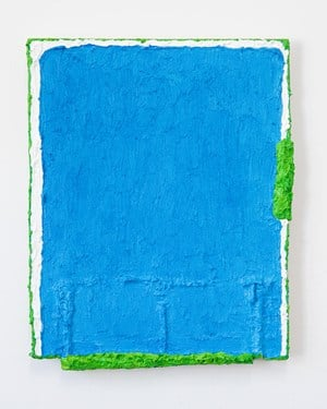 Untitled (blue with lime green) by Louise Gresswell contemporary artwork