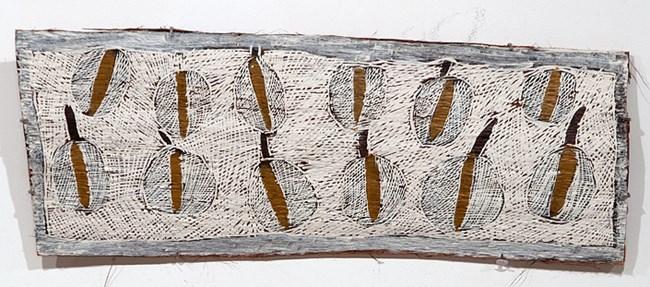 Fallen Leaves #1 by Nyapanyapa Yunupiŋu contemporary artwork