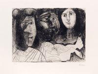 Autoportrait avec deux femmes by Pablo Picasso contemporary artwork print