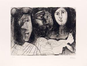 Autoportrait avec deux femmes by Pablo Picasso contemporary artwork