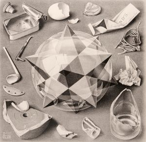 Contrast (Order and Chaos) by M.C. Escher contemporary artwork print