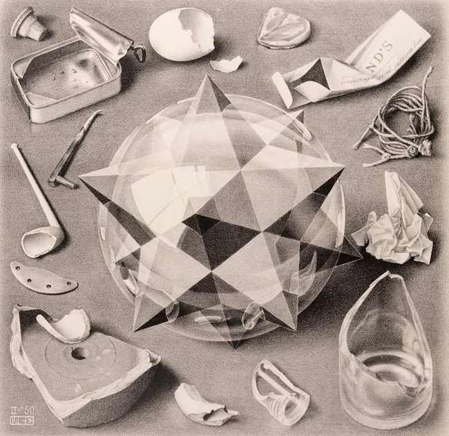 Contrast (Order and Chaos) by M.C. Escher contemporary artwork
