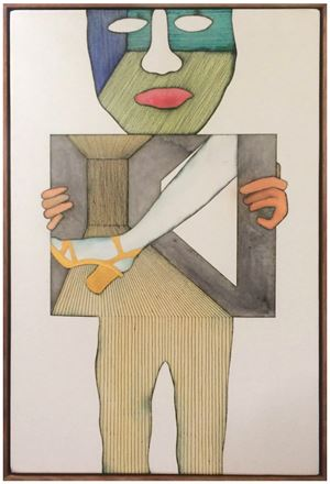 Holding My Own by Paul Maseyk contemporary artwork painting, drawing