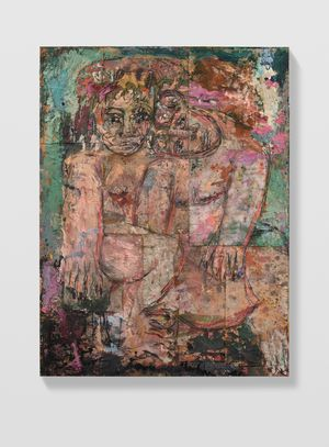 Couples 7 (Veronese green light and violet) by Daniel Crews-Chubb contemporary artwork