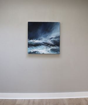 Sea state force 7 - Waves racing inland by Janette Kerr contemporary artwork