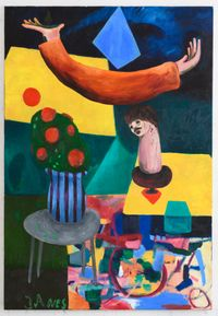 Seriously thinking about certain things by Janes Haid-Schmallenberg contemporary artwork painting