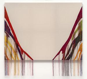 Abstract Weave / Morris Louis Delta Kappa 1960 SS02 by Kyungah Ham contemporary artwork mixed media, textile