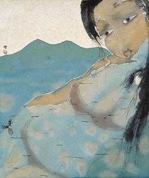 The River Is Full by Liu Qinghe contemporary artwork painting, works on paper, drawing