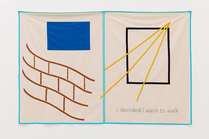 Exhibition view: Helen Cammock, I Decided I Want to Walk, Kate MacGarry, London (10 September–17 October 2020). Courtesy the artist and Kate MacGarry, London.Photo: Angus Mill