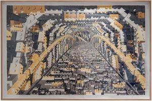 Tunel Lego Gris y Ambar by Dagoberto Rodríguez contemporary artwork