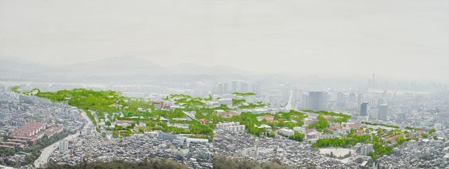 Study of Green-Seoul-Vacant Lot-Yongsan Garrison by Honggoo Kang contemporary artwork