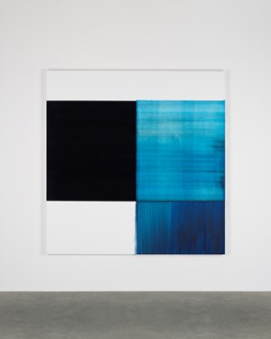 Exposed Painting Phthalocyanine Blue by Callum Innes contemporary artwork