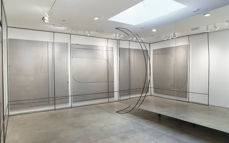 LIU WEI, Center of the Earth, 2016 site specific installation plexiglas and MDF dimensions variable. Courtesy of Lehmann Maupin, New York.