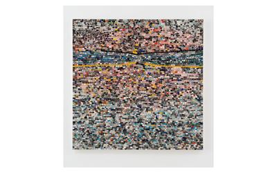 Jack Whitten, Quantum Wall, VIII (For Arshile Gorky, My First Love In Painting) (2017). Acrylic on canvas. 121.9 cm x 121.9 cm. © Jack Whitten. Courtesy the artist and Hauser & Wirth.