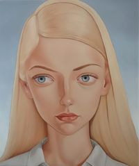 Lynda Jones, 1979 by Peter Stichbury contemporary artwork painting