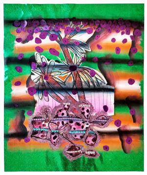 Purple drips by Lisa Vlaemminck contemporary artwork