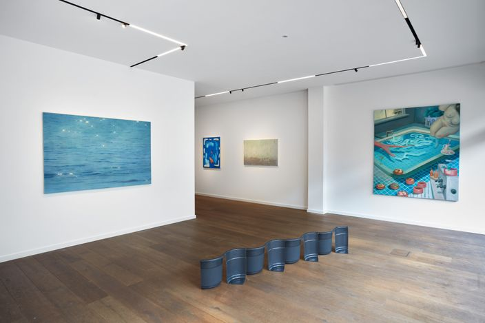 Exhibition view: Group exhibition, This is Water,Workplace, London (3 July–12 September 2021).Courtesy Workplace.