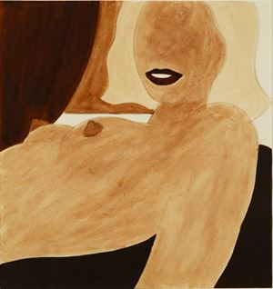 Study for Great American Nude by Tom Wesselmann contemporary artwork