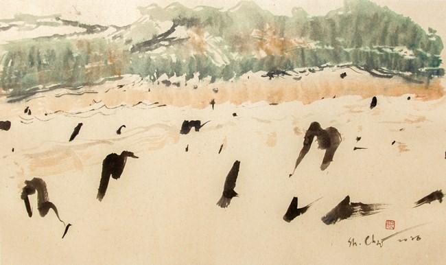 Traces of the Grasslands No. 1 by Shagdarjav Chimeddorj contemporary artwork