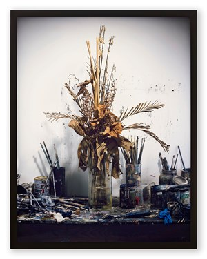 Dead Flowers in My Studio by Rodney Graham contemporary artwork