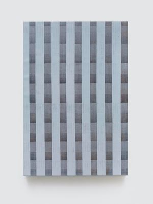 Seven Lines-Light Grey by Chi Qun contemporary artwork