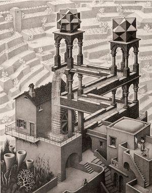 Waterfall by M.C. Escher contemporary artwork print