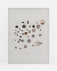 Handmade: Untitled Circles & Newspaper by Vik Muniz contemporary artwork mixed media
